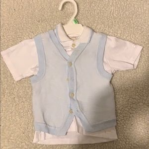 Buttoned down baby t shirt- NEW NEVER WORN